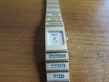 Vintage Women's Dufonte Square Face Gold Plated Watch-Works-New Battery