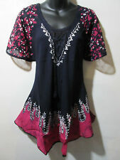 Wholesale Lot 3 Top Fit 1X 2X 3X Plus Tunic Black Lace Sleeves A Shaped NWT G786