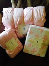 POTTERY BARN KIDS Audrey Pink Twin Quilt & Sham, Mallory Sheet Set NEW - 5 pc