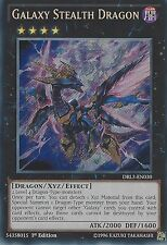 YU-GI-OH SECRET RARE CARD: GALAXY STEALTH DRAGON - DRL3-EN030 - 1ST EDITION