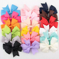 18Pcs/Bag Hair Bows Kids Cloth Ribbon Boutique Lovely No Clips for Baby Girls AU
