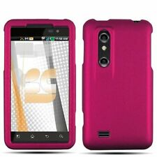 Rubberized Hard Case for LG Thrill 4G - Rose Pink