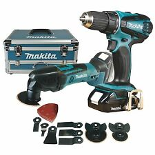 MAKITA BATTERIE SET PERCEUSE-VISSEUSE+MULTIFUKTIONSWEKRZEUG DDF456 + DTM50