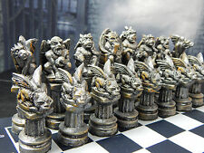 Gargoyles Chess Set, Customisable Colours (Pieces Only)