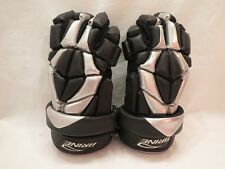 Brine HYPER Ventilator Silver-and-Black Dri-Lex Lacrosse Gloves [LGLHYP7-3BL]