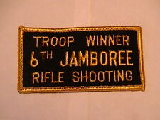 1964 National Jamboree Troop Winner Rifle Shooting patch