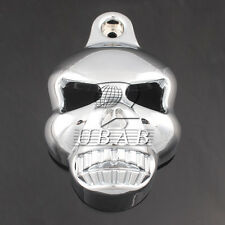 Motorcycle Chrome Skull Head Face Horn Cover For Harley Street Glide 1996-2013