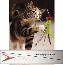 "Da Bird - 36"" Single Pole Interactive Cat Toy - Guinea Feather - Go Cat"