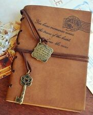 """New Vintage Magic Key String classic Leather notebook diary journal Retro 9""""x 6"""""""