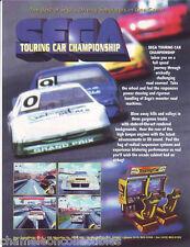 TOURING CAR CHAMPIONSHIP SEGA '98 ORIGINAL VIDEO ARCADE GAME MACHINE SALES FLYER