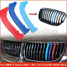 M Color Front Kidney Grille Cover Decal Clip Stripe For BMW 3 Series E90 E91 LCI