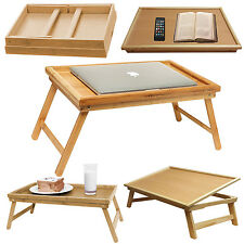 Modern Adjustable Wooden Laptop Desk Folding Bamboo Bed Tray Notebook Food Table
