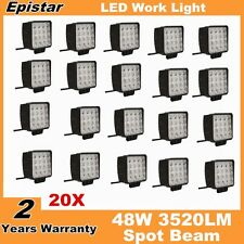20X 48W Spot LED Off road Work Light Lamp 12V 24V Car boat Truck Driving UTE SUV