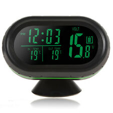 Auto 12/24V LED Digital Car Clock Thermometer Temperature Gauge Voltmeter 4 In 1