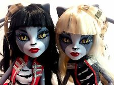 "Mattel Monster High Twins Set 2 Meowlody & Purrsephone Cats 11"" Doll + Accessory"