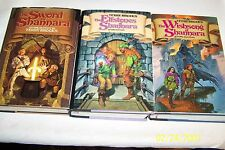 """""""Sword of Shannara Trilogy"""" by Terry Brooks 1977,1982,1985, SIGNED, 1st/1st, USA"""