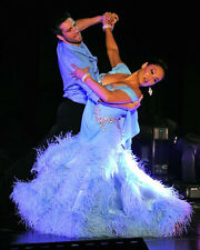 Tia Carrere & Maksim Chmerkovskiy UNSIGNED photo - G984 - Dancing with the Stars