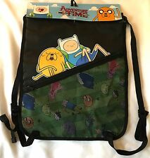 Adventure Time Finn Cinch Sack Backpack - Cartoon Network Adjustable Book Bag