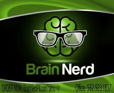 BRAIN NERD--- 6 PACK---BRAINNERD WORLD'S MOST POTENT NOOTROPIC FOR THE BRAIN