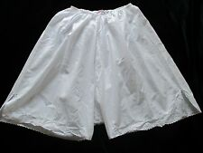 WOMENS TRUE ORIGINAL VINTAGE 1920S WHITE COTTON KNICKERS BLOOMERS LARGE SIZE