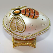 Boîte à bijoux OEUF musical en coquille l'Abeille inspiration Faberge OEUF boite