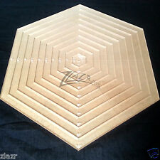 """1"""" to 10"""" Nested Hexagon Clear Template Acrylic Plexiglass Plastic Stencil Quilt"""