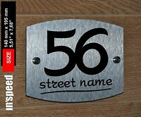 Elegant personalized house sign (#56) / plaque / plate number and street name