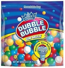 Dubble Bubble MACHINE REFILL assorted FRUIT-TASTIC bubblegum SMALL GUMBALLS gum