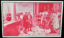 PRECIOSO GOUCHE DEL 1900 APROX. DE TEMA ARISTOCRÁTICO-RELIGIOSO. GRAN CALIDAD