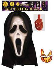 Bleeding Mask Halloween Scream Blood Pump Hooded Unisex Fancy Dress Accessory