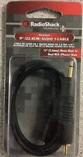 "RadioShack 9"" Audio Y-Cable 1/8""(3.5mm) mono M to dual RCA Phono M 42-2540"