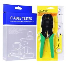 Network Cable Tester and RJ-45 Crimping Tool Kit