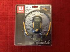 NEW Wilson Digital Micro FM Stereo Radio Sports Engineered, Earphones Included