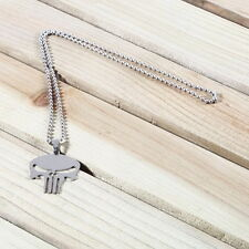 Punk Men's Skull Stainless Steel Chain Pendant T-shirt Sweater Necklace YL