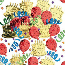 2 Bags Happy Birthday Cake Party Embossed Foil Confetti Table Sprinkles