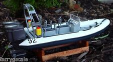 Twin Engine Diving Boat Everglades Inflatable Type 1/24 Scale Diorama Accessory
