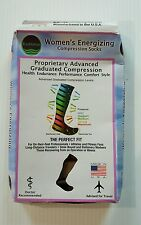 EvoNation Women's Open Toe Advanced Graduated Compression Socks 15-20mmHg,XL Nud