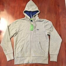 NEW BOSS GREEN BY HUGO BOSS ZIP HOODIES SWEATSHIRT SAGGOS GREY MEN SIZE SMALL S