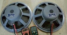 Vintage JBL JIM LANSING By AMPEX 150-4 32 Ohms Woofer Speakers Very Rare