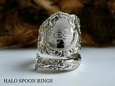 WOW STUNNING CHUNKY ORNATE STERLING SILVER SPOON RING  IDEAL MOTHERS DAY GIFT
