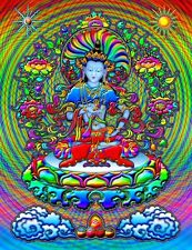 3.25 Psychedelic Mind Blowing Buddha On Lotus Flower Sticker, Decal! Bong, pipe.