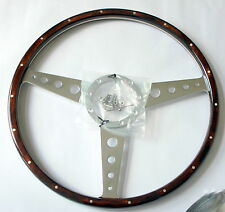 """17"""" WOOD RIM WITH 18 RIVETS IN RIM. VW KOMBI/BUS T2 FIT BAYS UP TO MID 1974"""