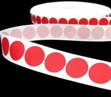 "5 Yd Christmas Red Polka Dot Grosgrain Ribbon 7/8""W"