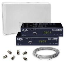 Komplett mit SelfSat mit Twin LNB und 2 Digital HD Receiver XORO HRS 8525