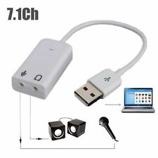 External USB 2.0 Virtual 7.1 Channel Audio Sound Card Adapter 3D for PC/Mac