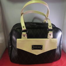MARY KAY CONSULTANT QUILTED BLACK/NUDE LARGE MAKEUP WEEKENDER OVERNIGHT BAG TOTE