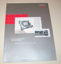 Audi  Online Anbindung des Diagnosesystems VAS 5051 - SSP 294 -  Stand 2002!