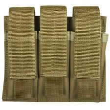 NEW - Military Style Tactical Triple Pistol Mag MOLLE Pouch - DESERT COYOTE TAN