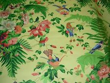 "~27 2/8 YDS~GREEFF ~BIRDS~""LINTON FLORAL""~COTTON UPHOLSTERY FABRIC FOR LESS~"