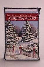 "18 Pack Christmas Boxed Cards ""God's Blessings Be Yours This Christmas Season"""